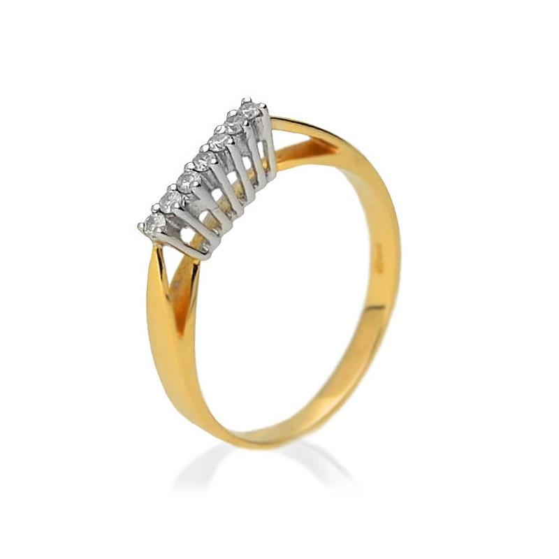 Pierścionek zaręczynowy złoty BP206S