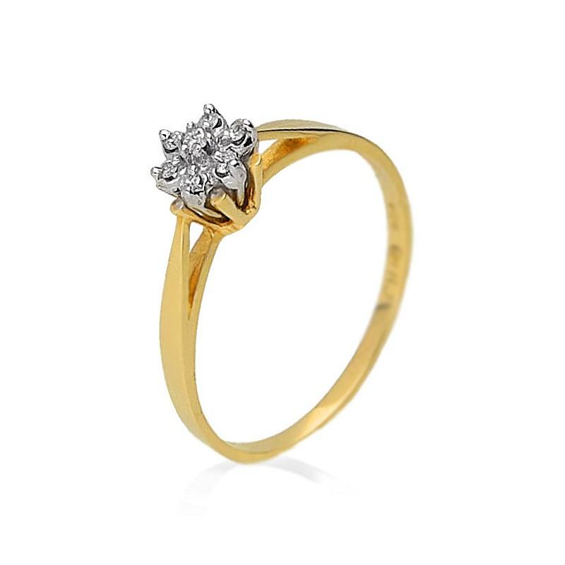 Pierścionek zaręczynowy złoty BP196S