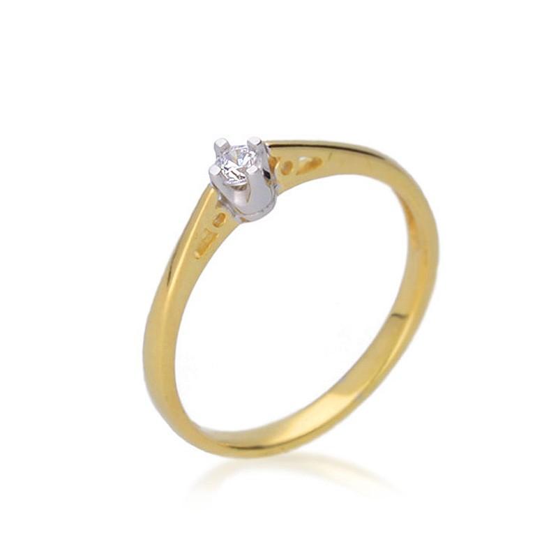Pierścionek zaręczynowy złoty P006ZB10