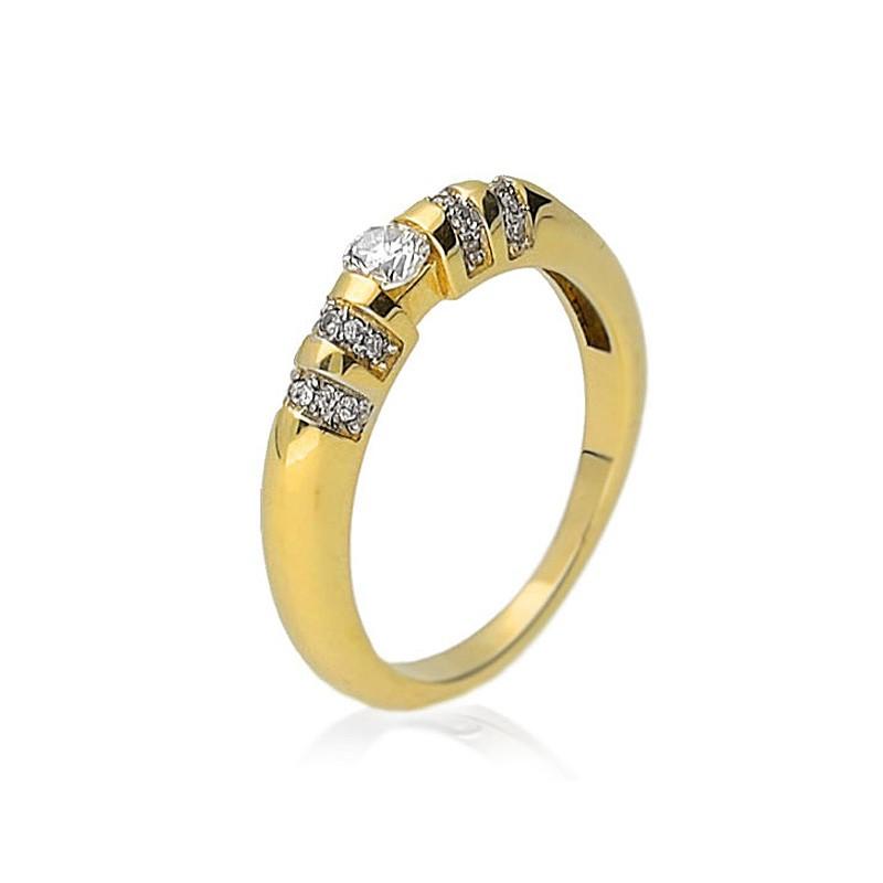 Pierścionek zaręczynowy złoty BP201S