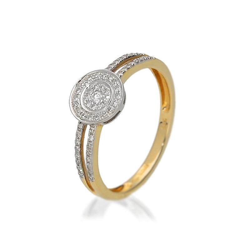 Pierścionek zaręczynowy złoty BP214S