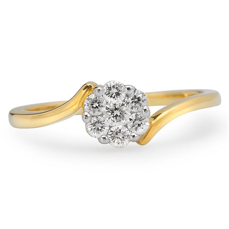 Pierścionek zaręczynowy złoty P72/435R