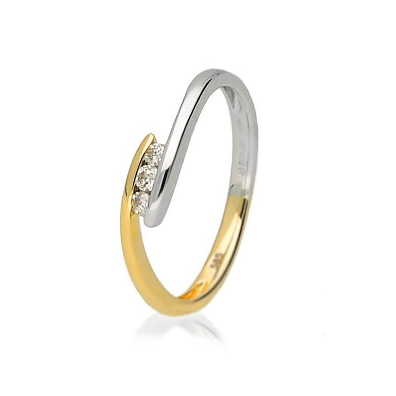 Pierścionek zaręczynowy złoty BP191S