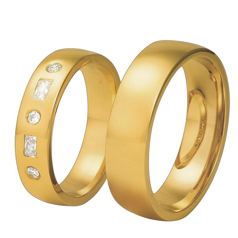 Złote obrączki ślubne Swepol A-652