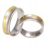 Złote obrączki ślubne Swepol A-658