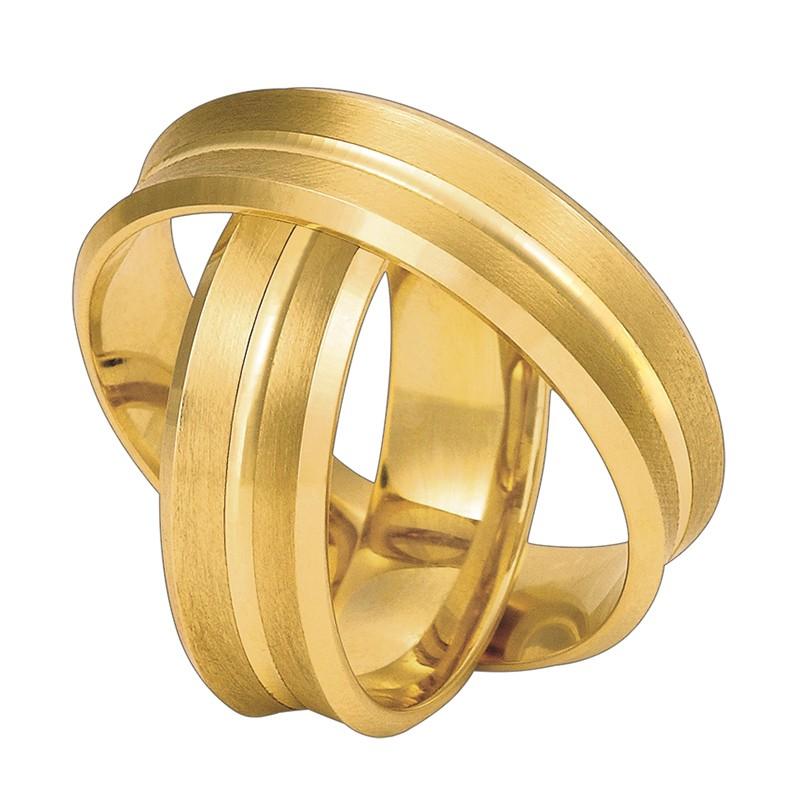 Złote obrączki ślubne Swepol A-660