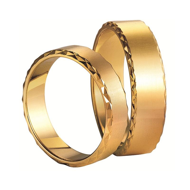 Złote obrączki ślubne Swepol A-013