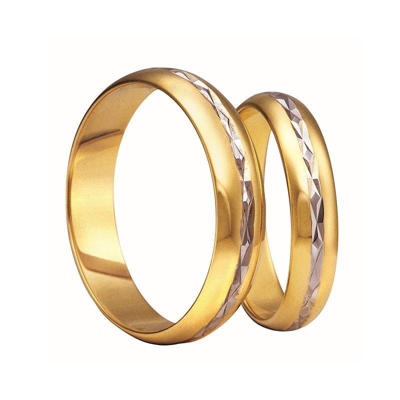 Złote obrączki ślubne Swepol A-103