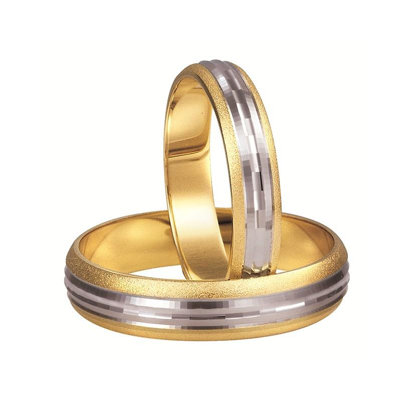 Złote obrączki ślubne Swepol A-113