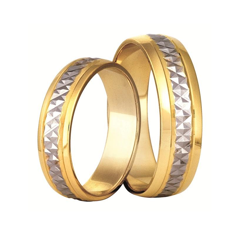 Złote obrączki ślubne Swepol A-118