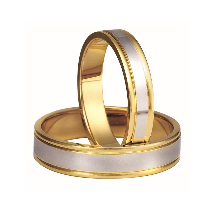 Złote obrączki ślubne Swepol A-121