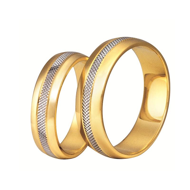 Złote obrączki ślubne Swepol A-131