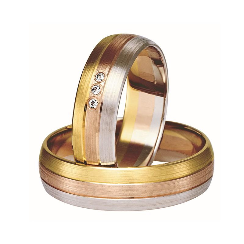 Złote obrączki ślubne Swepol A-305