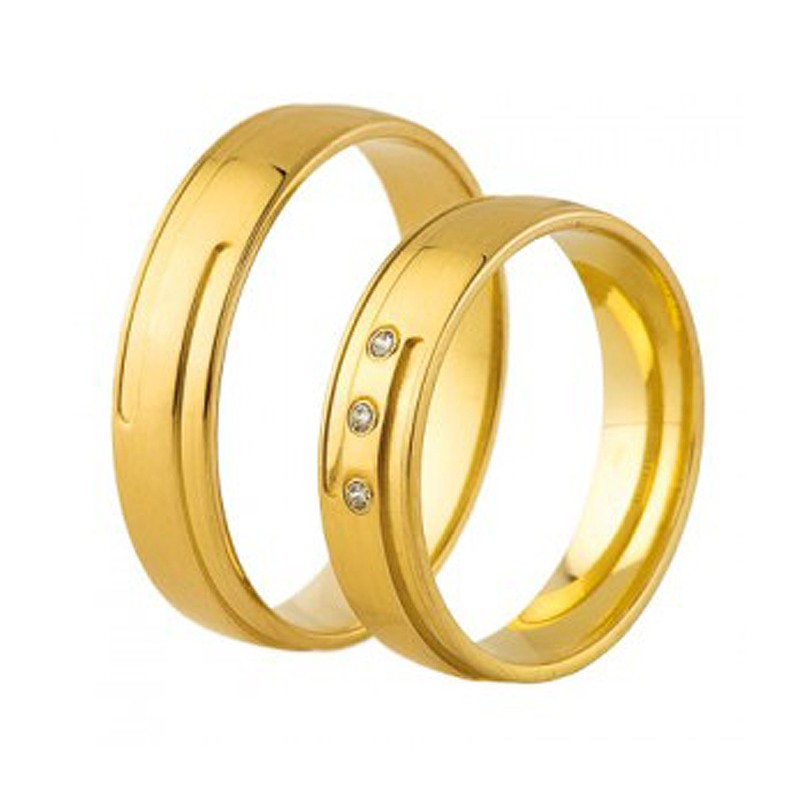 Złote obrączki ślubne Swepol A-671
