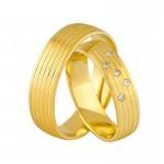 Złote obrączki ślubne Swepol A-676