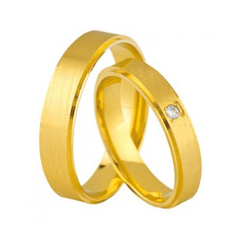 Złote obrączki ślubne Swepol A-678