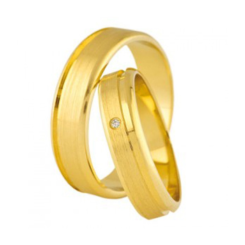 Złote obrączki ślubne Swepol A-679