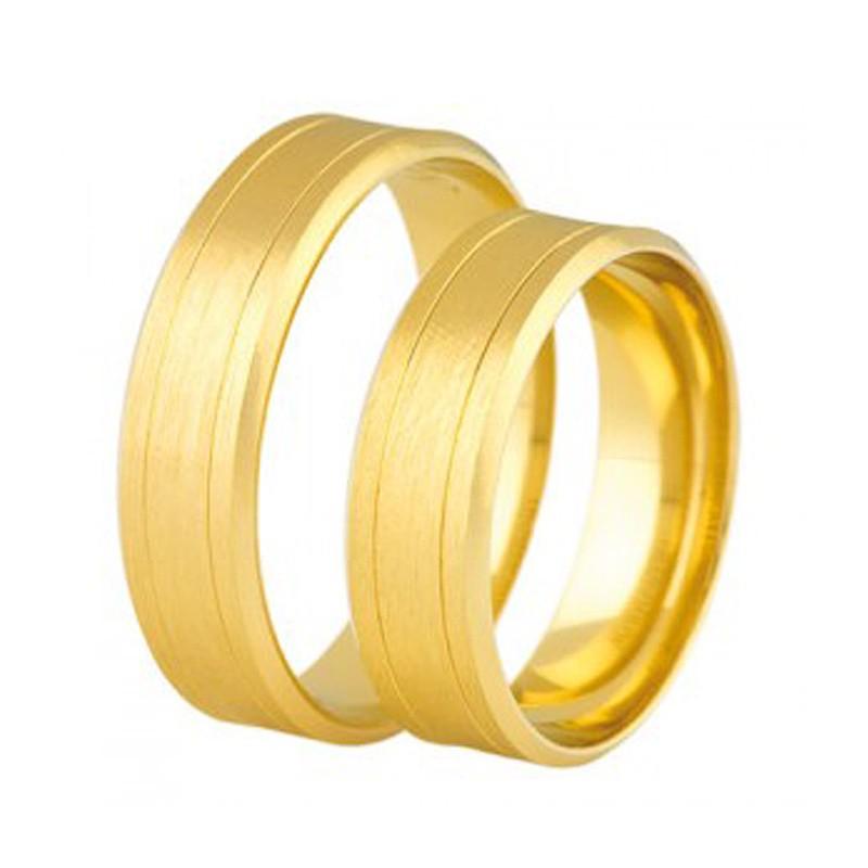 Złote obrączki ślubne Swepol A-682
