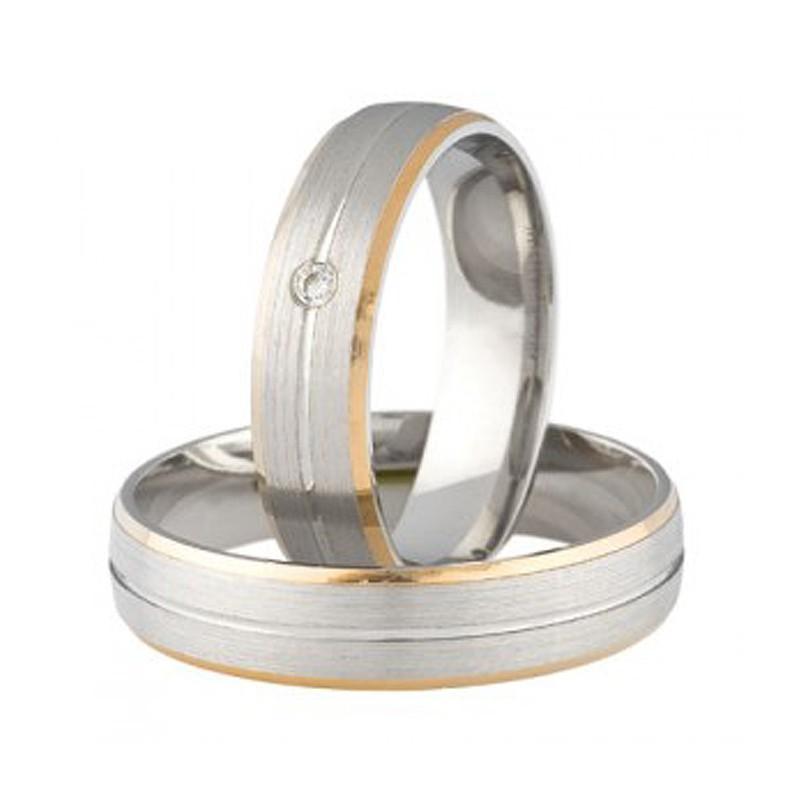 Złote obrączki ślubne Swepol A-683