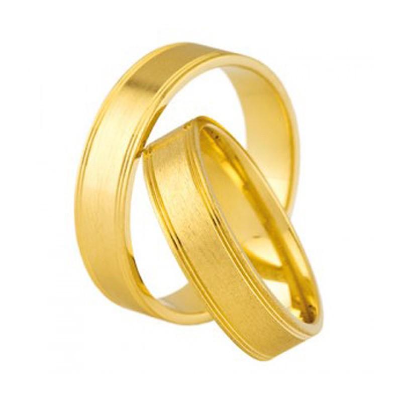 Złote obrączki ślubne Swepol A-686