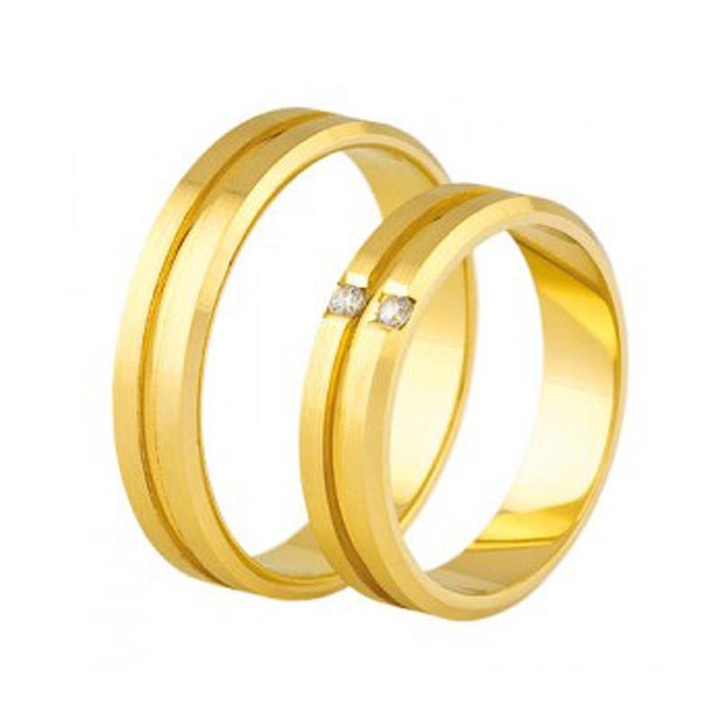 Złote obrączki ślubne Swepol A-688