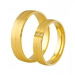 Złote obrączki ślubne Swepol A-689