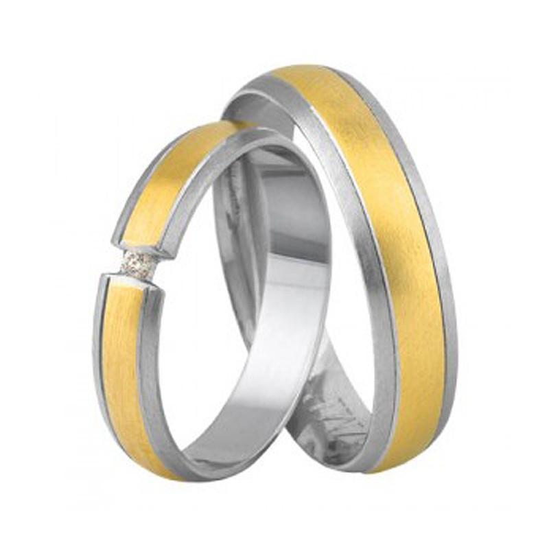 Złote obrączki ślubne Swepol A-690