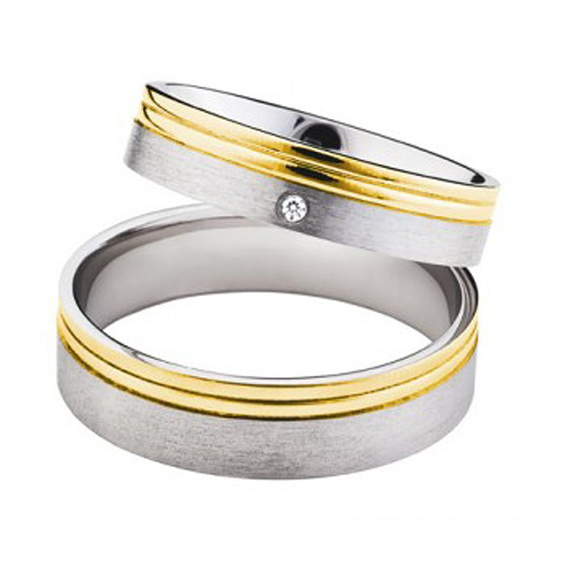 Złote obrączki ślubne Swepol A-695