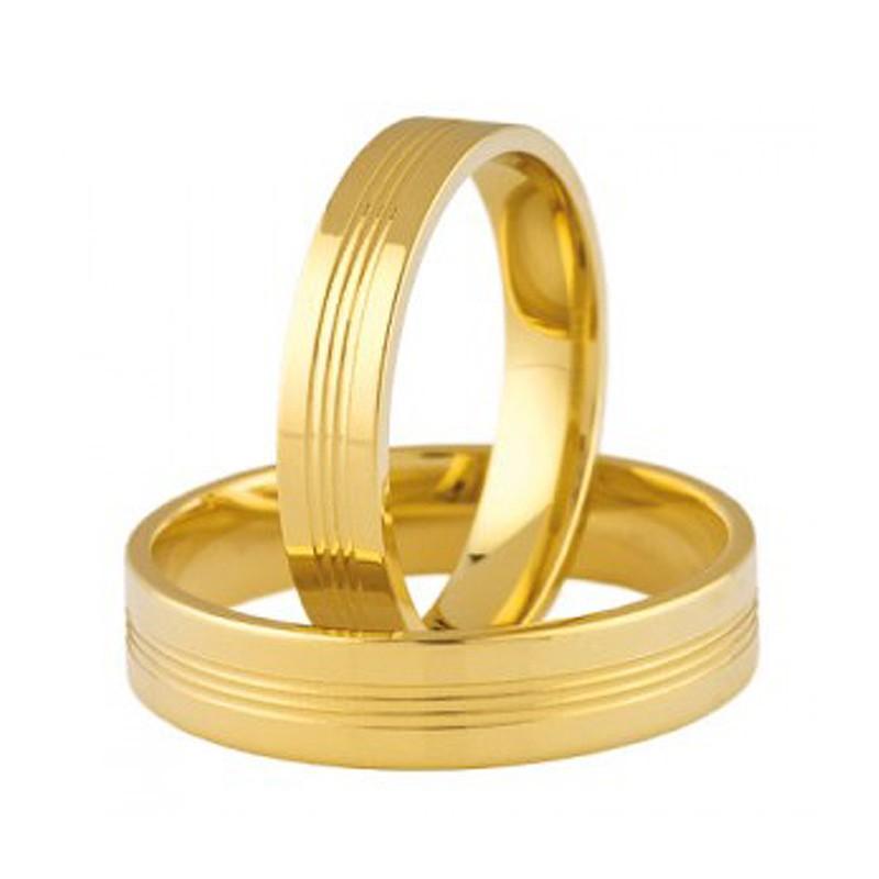 Złote obrączki ślubne Swepol A-693