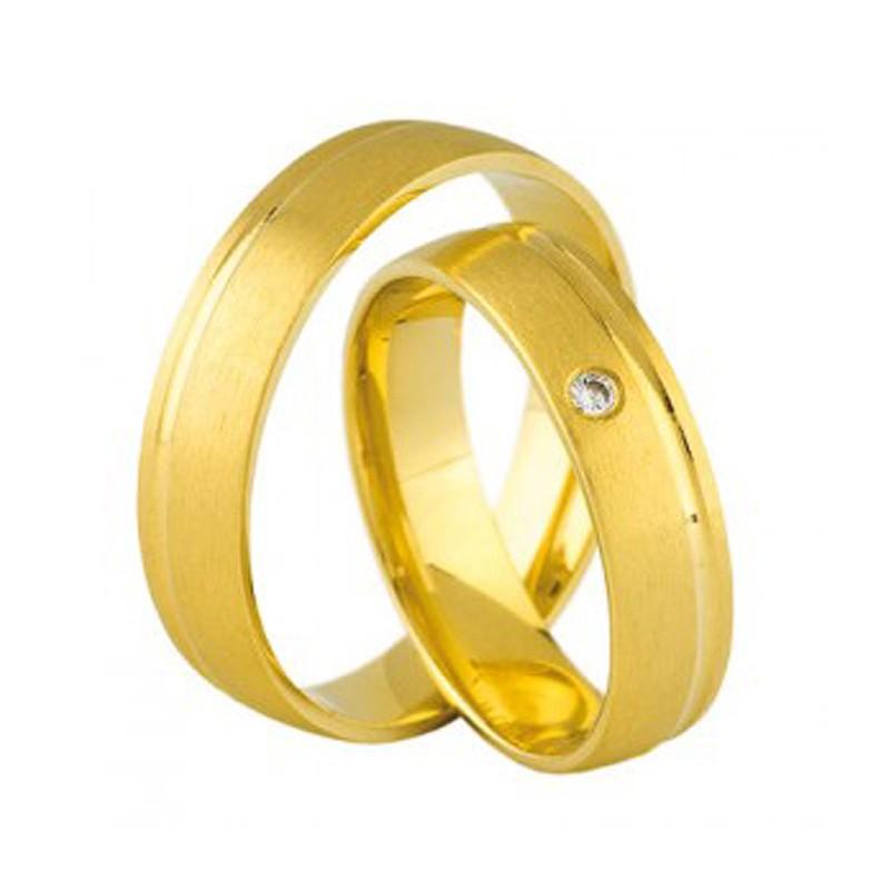 Złote obrączki ślubne Swepol A-694