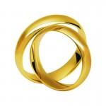 Złote obrączki ślubne Swepol A-629