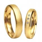 Złote obrączki ślubne Swepol A-606