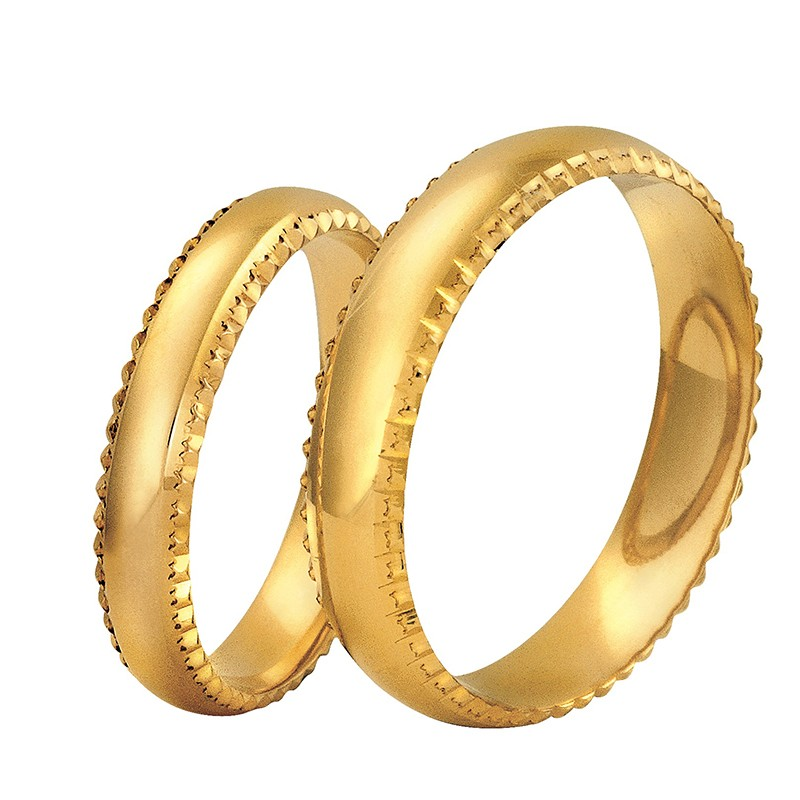 Złote obrączki ślubne Swepol A-608