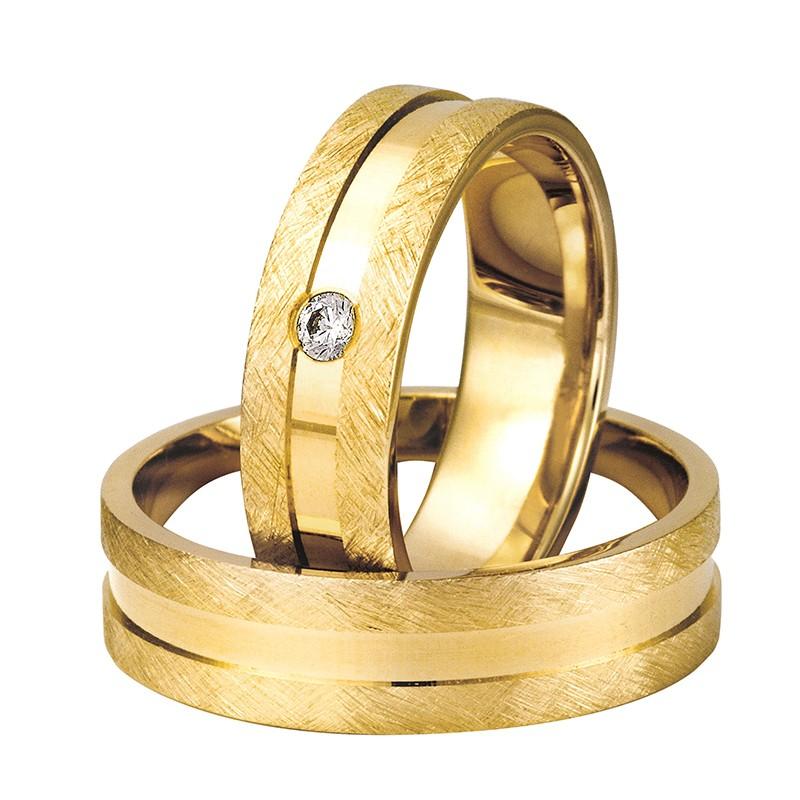 Złote obrączki ślubne Swepol A-610