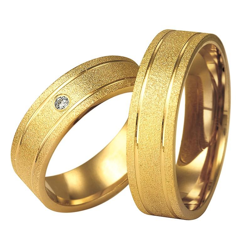 Złote obrączki ślubne Swepol A-611