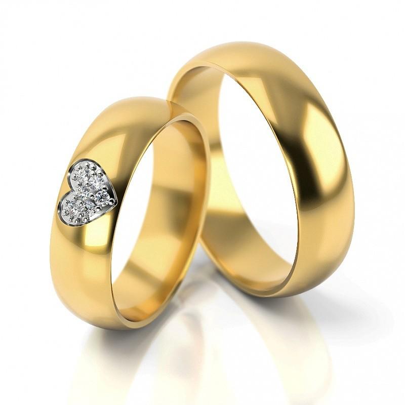 Złote obrączki ślubne Stelmach St310
