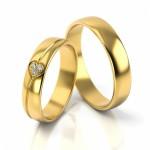 Złote obrączki ślubne Stelmach St314