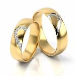 Złote obrączki ślubne Stelmach St315