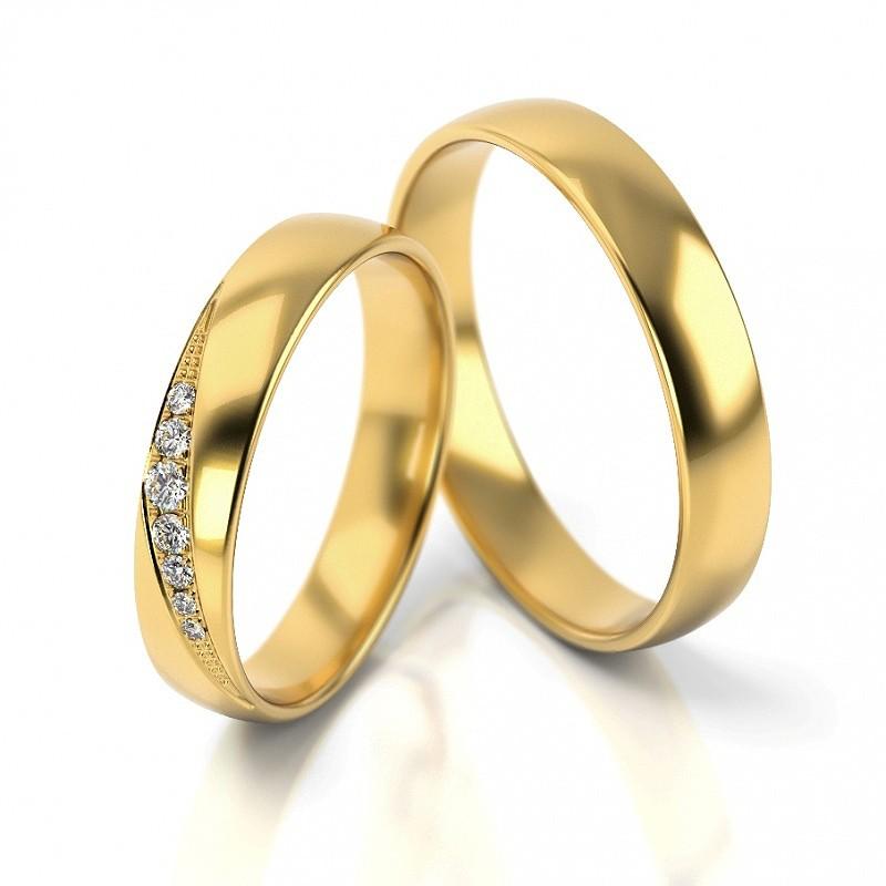Złote obrączki ślubne Stelmach St317