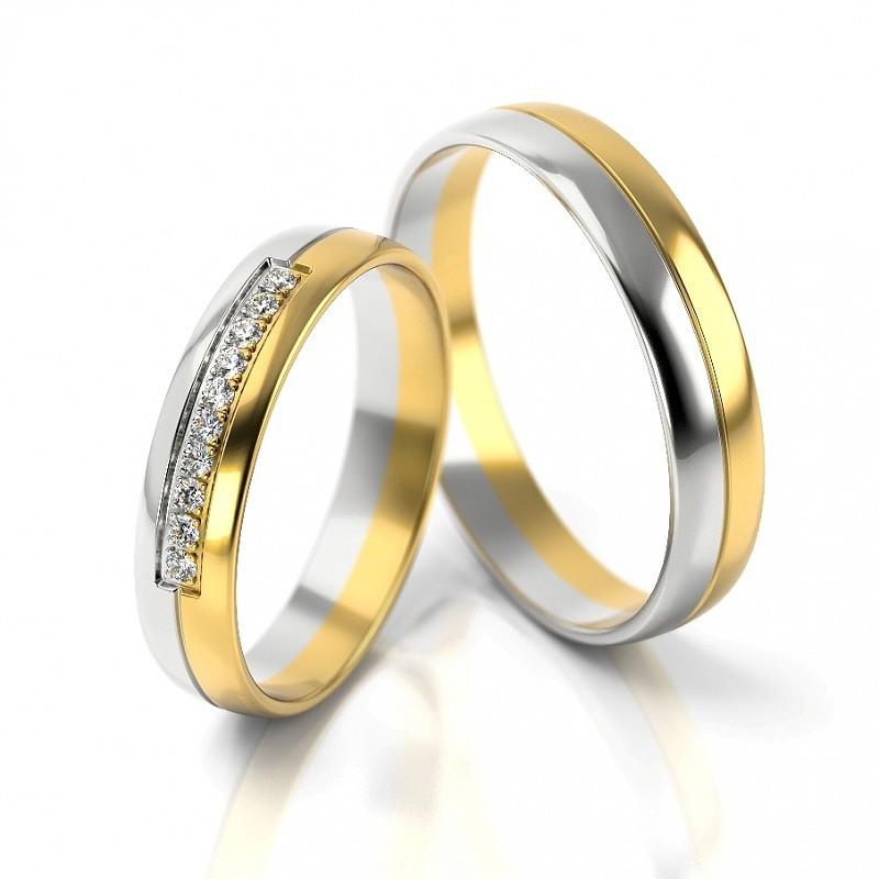 Złote obrączki ślubne Stelmach St318