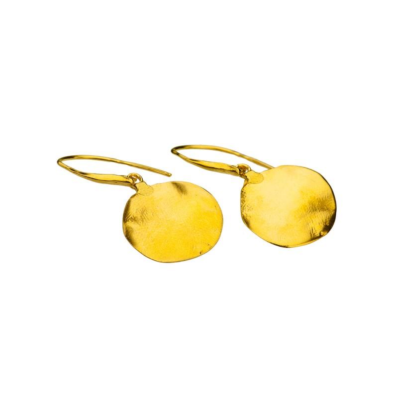 Kolczyki srebro złocone
