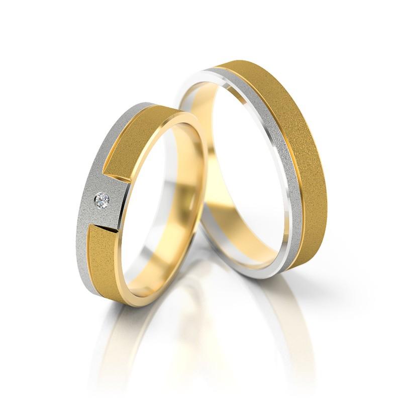 Złote obrączki ślubne Stelmach St 05