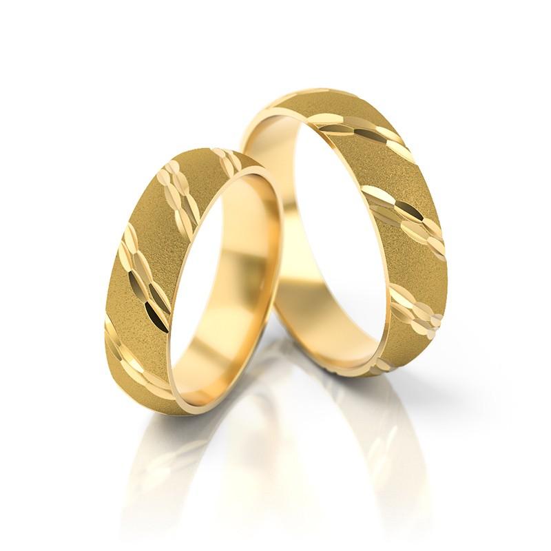 Złote obrączki ślubne Stelmach St 14