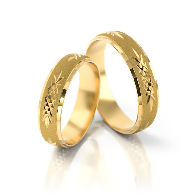 Złote obrączki ślubne Stelmach St 16