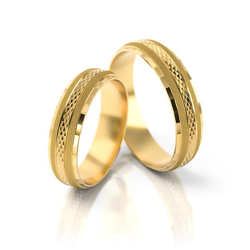 Złote obrączki ślubne Stelmach St 17