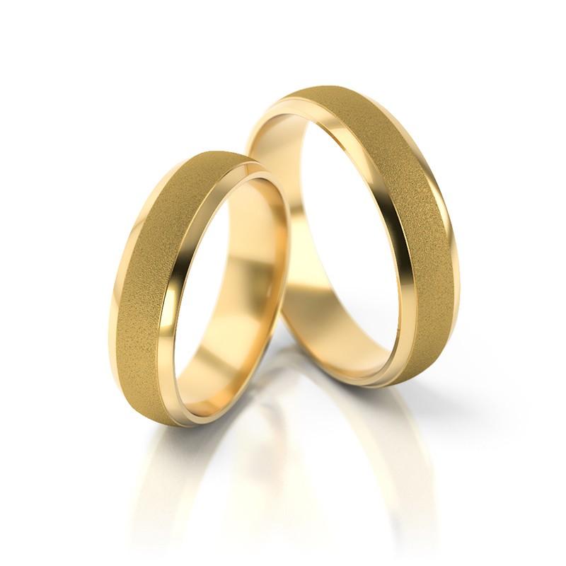 Złote obrączki ślubne Stelmach St 18