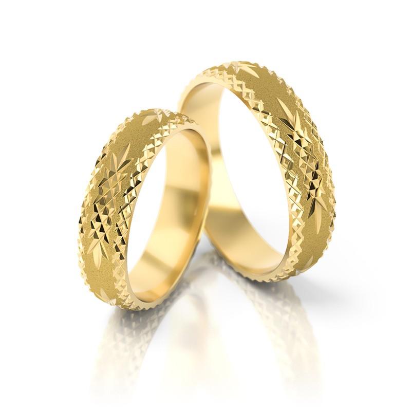 Złote obrączki ślubne Stelmach St 19