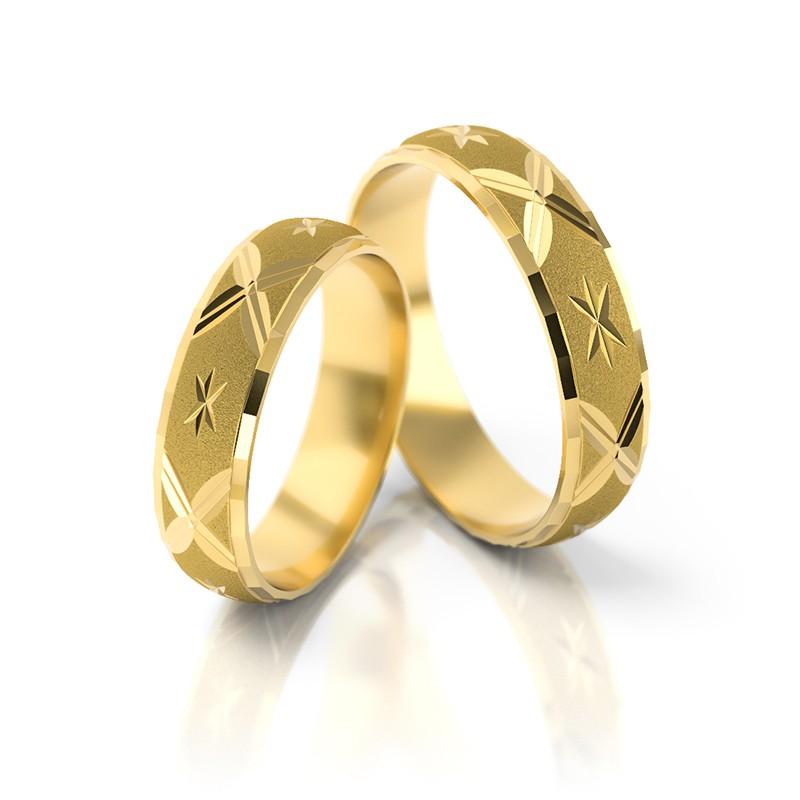 Złote obrączki ślubne Stelmach St 20