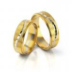 Złote obrączki ślubne Stelmach St171