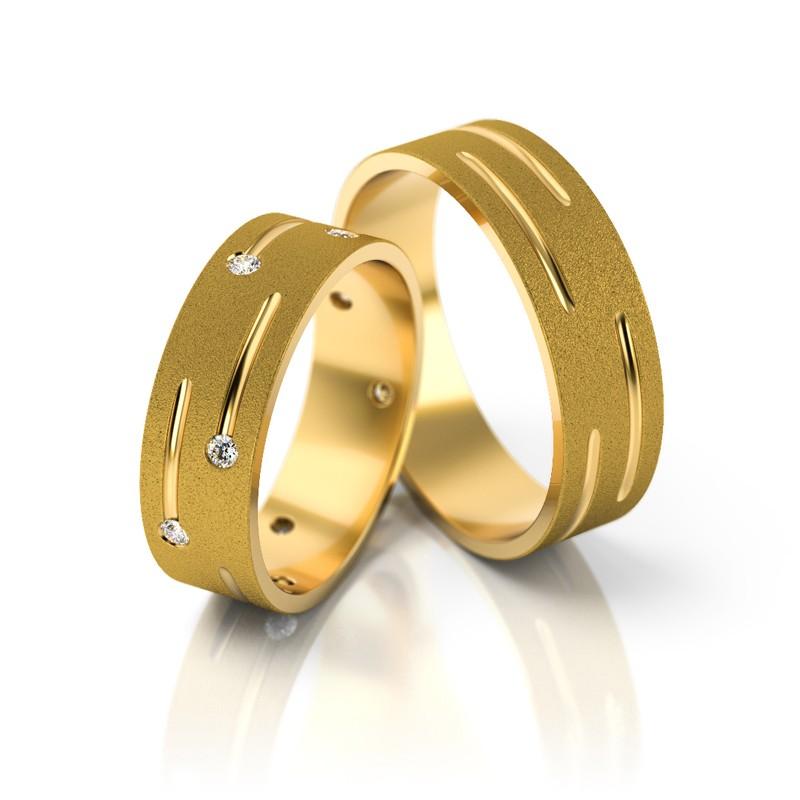 Złote obrączki ślubne Stelmach St 189